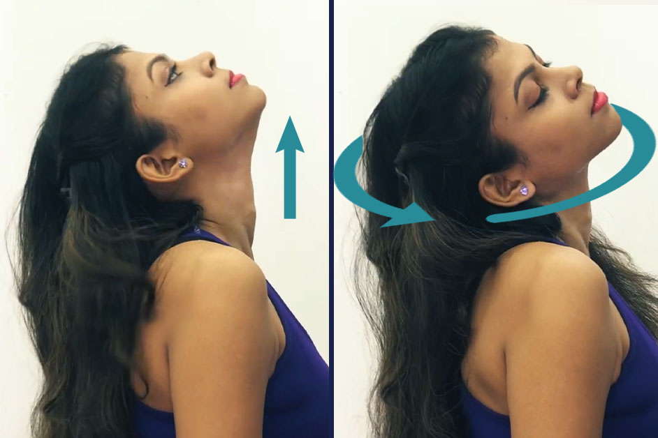 Neck stretching - Exercise For Rid Double Chin